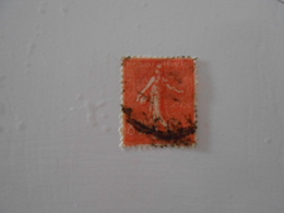 FRANCE  YT203 SEMEUSE LIGNEE 80c. Rouge - 1903-60 Sower - Ligned