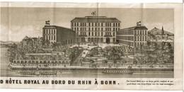 C1880 Dépliant Pub Touristique Grand Hôtel Royal - Bonn - Heinrich Ermekeil Propriétaire - Panorama Rhin - 4 Scans - Dépliants Touristiques
