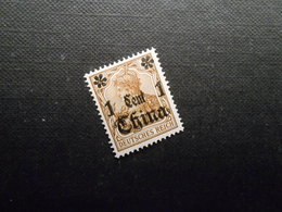 D.R.28  1Cauf3Pf*MLH - Deutsche Kolonien (China) 1905 - Mi 3,60 € - Bureau: Chine