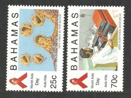 BAHAMAS 1995 MEDICAL AIDS VIRUS WORLD AIDS DAY SET MNH - Bahamas (1973-...)