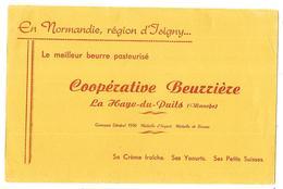 BUVARD BEURRE COOPERATIVE BEURRIERE LA HAYE DU PUITS Région D'Isigny  Buvard Env. 245 X 160 Mm - Alimentaire