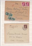 Belgique  Lot De 2   Enveloppes     Express    Et Taxe - Belgium