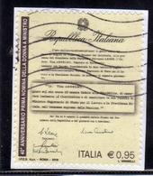 ITALIA REPUBBLICA ITALY REPUBLIC 2016 ANNIVERSARIO PRIMA NOMINA A MINISTRO DI UNA DONNA TINA ANSELMI USATO USED OBLITERE - 6. 1946-.. Repubblica