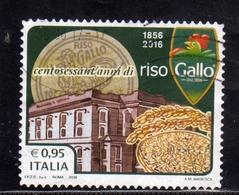 ITALIA REPUBBLICA ITALY REPUBLIC 2016 ECCELLENZE DEL SISTEMA PRODUTTIVO RISO GALLO USATO USED OBLITERE' - 6. 1946-.. Repubblica