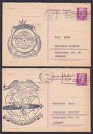 Rotterdam Plak Nu Kinder Zegels, Nuclear, Uss Abraham Lincoln Submarine U-Boot, Gemany East Postcard Walter Ulbricht - Schiffahrt
