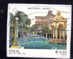 ITALIA REPUBBLICA ITALY REPUBLIC 2016 VILLA GROCK DI IMPERIA USATO USED OBLITERE' - 6. 1946-.. Repubblica