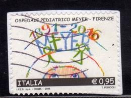 ITALIA REPUBBLICA ITALY REPUBLIC 2016 LE ECCELLENZE DEL SAPERE OSPEDALE PEDIATRICO MEYER USATO USED OBLITERE' - 6. 1946-.. Repubblica