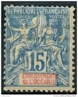 Oceanie (1892) N 6 * (charniere) - Oceania (1892-1958)