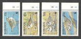 BARBADOS 1999 WWF ENDANGERED SPECIES BIRDS PIPING PLOVER SET MNH - Barbados (1966-...)