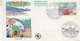 Monaco -  Grand Prix D'Europe 1963  -  Enveloppe Premiere Jour- FDC - Automovilismo