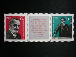 DDR, 1962 Dimitrov As Premier Of Bulgaria, Scott #610a + Label MNH Cv 5,50$ - Nuovi