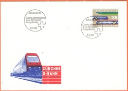 SVIZZERA - SUISSE - HELVETIA - 1990 - Zürcher S-Bahn - BERN - FDC - FDC