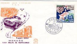 Monaco -  XXXIe Rallye Monte-Carlo 1962  -  Enveloppe Premiere Jour- FDC - Auto's