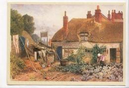 A Cottage Garden, Myles Birket Foster, The British Museum, Unused Postcard [23372] - Paintings
