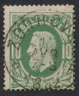 """émission 1869 - N°30 Relais """"Zonhoven"""". Beau Centrage ! COBA : 50 - 1869-1883 Léopold II"""