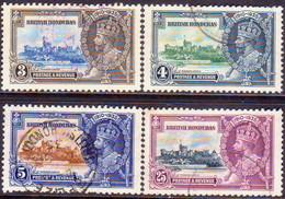 British Honduras 1935 SG #143-46 Compl.set Used CV £21 Silver Jubilee - British Honduras (...-1970)