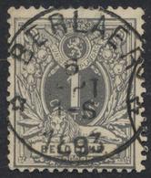 """émission 1884 - N°43 Obl Relais """"Berlaer"""" (Concours). / COBA : 15. - 1869-1888 Lion Couché"""