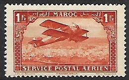 MAROC     -    Poste Aérienne   -   1922 .  Y&T N° 7 ** .   Avion Survolant Casablanca. - Maroc (1891-1956)