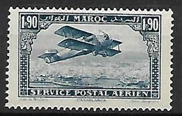 MAROC     -    Poste Aérienne   -   1922 .  Y&T N° 9 ** .   Avion Survolant Casablanca. - Maroc (1891-1956)
