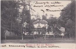 ANDERLUES-MAISON AU BOIS-CHATEAU-CARTE ENVOYEE VERS GILLY-1910-VOYEZ LES 2 SCANS-TOP! ! ! - Anderlues