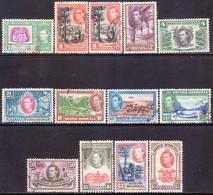 British Honduras 1938-47 SG #150-61 Compl.set Used Incl. Perf.var For 2c CV £100 - British Honduras (...-1970)