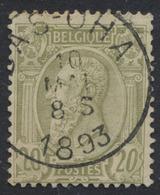 "émission 1884 - N°47 Obl Simple Cercle ""Bas - Oha"" - 1884-1891 Léopold II"