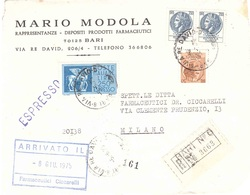 FRONTE RACC. EX BARI 6 VIA RE DAVIO MARIO MODOLA PRODOTTI FARMACEUTICI BARI - 6. 1946-.. Repubblica