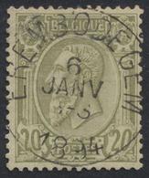 """émission 1884 - N°47 Obl Simple Cercle (concours) """"Erembodegem"""" - 1884-1891 Léopold II"""