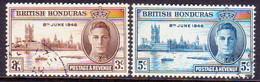 British Honduras 1946 SG #162-63 Compl.set Used Victory - British Honduras (...-1970)
