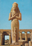 Egypt PPC Luxor Karnak Pharao Pinutem And His Wife 1986 MELSTED Bornholm Denmark (2 Scans) - Luxor