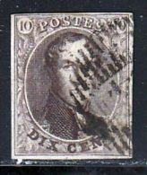 Belgique 1858 Yvert 10 (o) B Oblitere(s) - 1858-1862 Medallions (9/12)