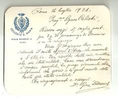 """5026"""" COLLEGIO S. MARIA VIALE MANZONI 5 - ROMA - SOLLECITO DI PAGAMENTO """"  ORIGINALE - Vecchi Documenti"""
