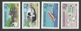 BARBADOS 1999 UPU TRANSPORT AIRCRAFT FLYING BOAT COMPUTER SET MNH - Barbados (1966-...)