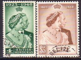 British Honduras 1948 SG #164-65 Compl.set Used Sliver Wedding CV £50+ - British Honduras (...-1970)