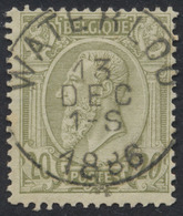 """émission 1884 - N°47 Obl Simple Cercle (Concours) """"Waterloo"""" - 1884-1891 Léopold II"""