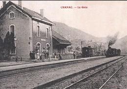 48----REPRODUCTION--CHANAC--la Gare---En Lozère, Chanac--images D'autrefois--voir 2 Scans - Chanac