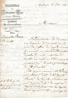1836 - CHAMBERY - Tribunal De Judicature à M. Le Juge Du Mandement De LA ROCHETTE - Documents Historiques