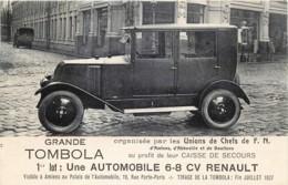 France - 80 - Amiens - Tombola Organisée Par Les Unions De Chefs De F.N. - Une Auto 6-8 CV Renault - Amiens