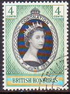 British Honduras 1953 SG #178 4c Used Coronation - British Honduras (...-1970)