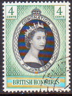 British Honduras 1953 SG #178 4c Used Coronation - Honduras Britannico (...-1970)