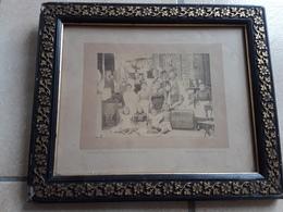 ORGINELE FOTO AFMETINGEN Met Kader 35 CM OP 30 CM AUX QUATRE BRAS BRASSERIE - Autres Collections
