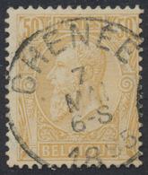 """émission 1884 - N°50 Obl Simple Cercle """"Chenée"""" - 1884-1891 Léopold II"""