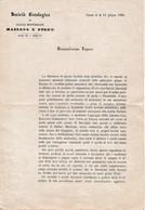 1866 - Societa Bacologica Du Casale Monferrato MASSAZA E PUGNO - En Italien - - Documenti Storici