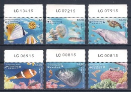 HONG KONG [2019] Underwater World; Marine Life (fish, Turtle, Dolphin, Coral) - Set 6 Stamps From Sheets (MNH) - As Scan - Marine Life