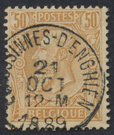"émission 1884 - N°50 Obl Simple Cercle ""Ecaussinnes - D'enghien"". TB - 1884-1891 Léopold II"