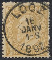 """émission 1884 - N°50 Obl Simple Cercle """"Looz"""" - 1884-1891 Léopold II"""