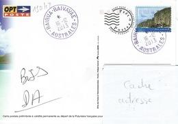 13048  PAP Ile De RAIVAVAE - AUSTRALES - POLYNÉSIE FRANÇAISE - Lettres & Documents