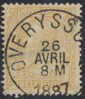 """émission 1884 - N°50 Obl Simple Cercle """"Overyssche"""" - 1884-1891 Léopold II"""