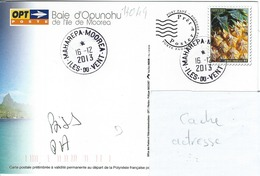 13049  PAP Ile De MOOREA - ILES Du VENT  - POLYNÉSIE FRANÇAISE - Lettres & Documents