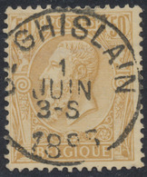 "émission 1884 - N°50 Obl Simple Cercle ""St-Ghislain"". TB - 1884-1891 Léopold II"